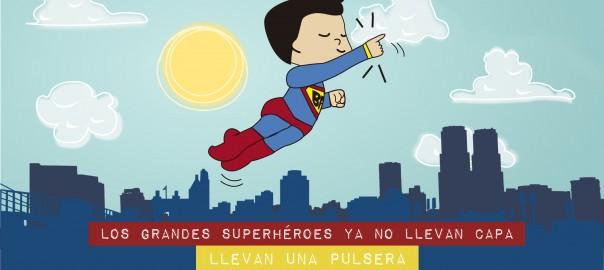 superhéroe con pulsera y no capa